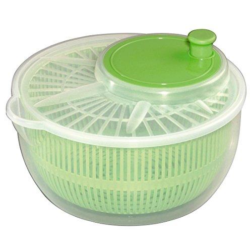 xavax salatschleuder mit kurbel durchmesser 24 cm spuelmaschinengeeignet auch als salatschluessel und seiher verwendbar transparentgruen - Xavax Salatschleuder mit Kurbel (Durchmesser 24 cm, spülmaschinengeeignet, auch als Salatschlüssel und Seiher verwendbar) transparent/grün