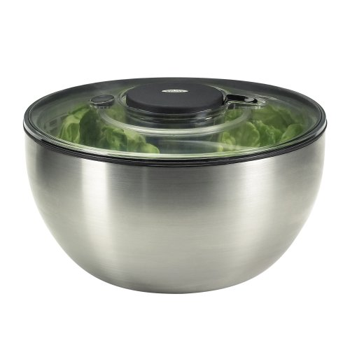 oxo salatschleuder edelstahl - OxO Salatschleuder Edelstahl